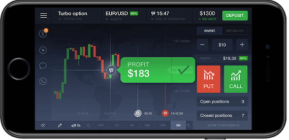 IQ Options mobile trading